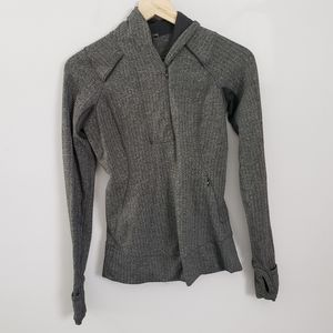 Lululemon Think Fast Pullover Herringbone Grey 4
